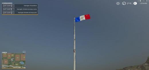 Photo of FS19 – French Flag + Sound V1