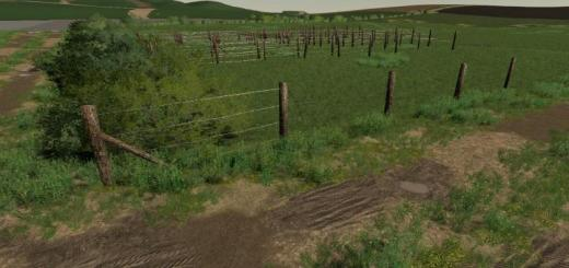 Photo of FS19 – Barbed Wire Fence Kit V1.0.0.2