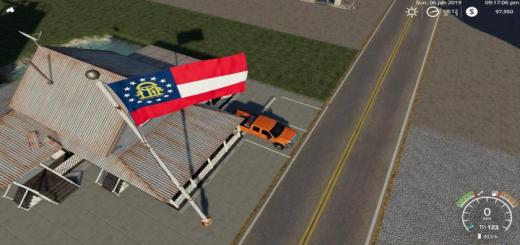 Photo of FS19 – Georgia State Flag V1.0.1