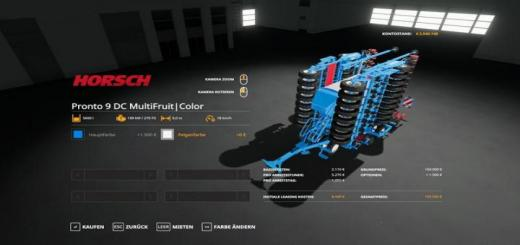 Photo of FS19 – Horsch Pronto9Dc – Multifruit – Multicolor V1.2