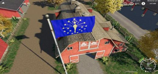 Photo of FS19 – Indiana State Flag V1