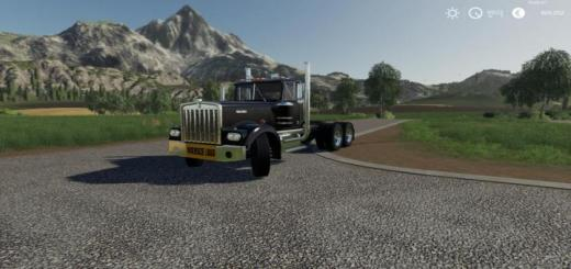 Photo of FS19 – Kenworth W900A With Oversize Load Banner V1
