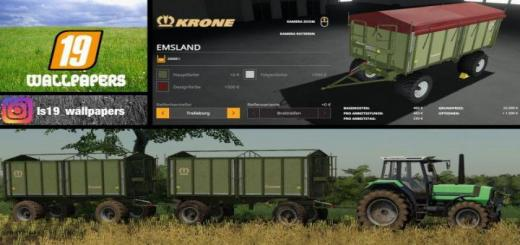 Photo of FS19 – Krone Emsland Kipper V1
