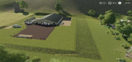 Photo of FS19 – Large American Cow Shed V1