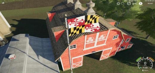 Photo of FS19 – Maryland Flag V1