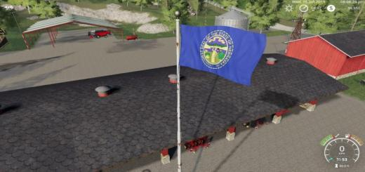 Photo of FS19 – Nebraska Flag V1