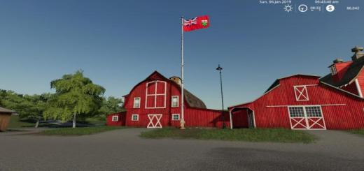 Photo of FS19 – Ontario Flag V1