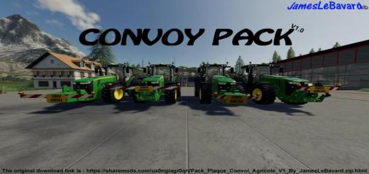 Photo of FS19 – Pack Plates Agricol Convoy V1