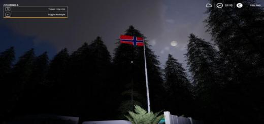 Photo of FS19 – Placeable Norway Flagg V1