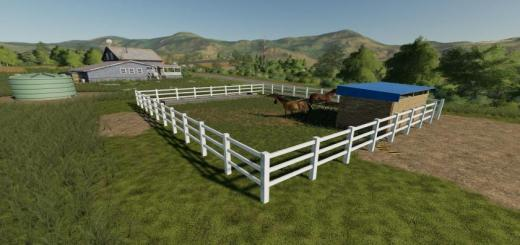 Photo of FS19 – Placeable Small Horse Paddock V1