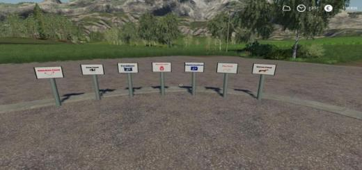 Photo of FS19 – Signs V1.1