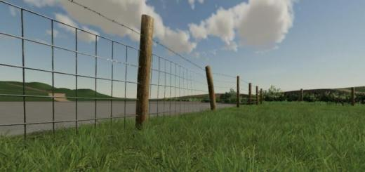 Photo of FS19 – Stock Wired Fence Kit V1