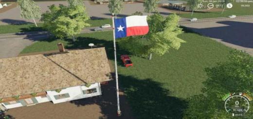 Photo of FS19 – Texas Flag V1