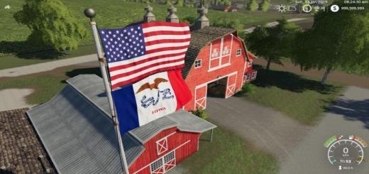 Photo of FS19 – Usa Above Iowa Flag V1