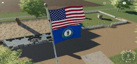 Photo of FS19 – Usa Above Kentucky Flag V1