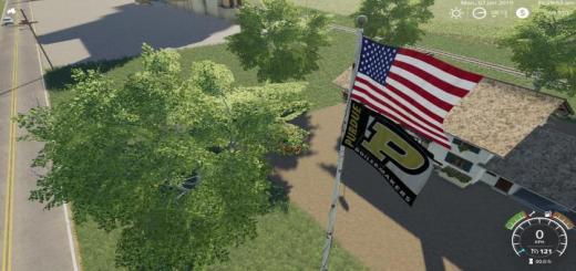 Photo of FS19 – Usa Above Purdue Boilermaker Flag V1