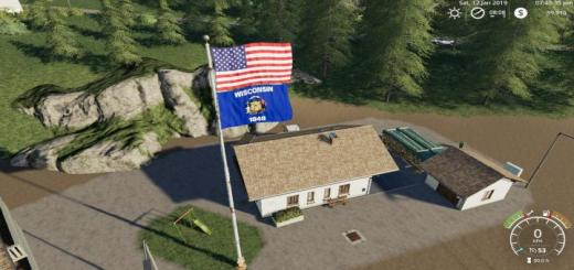 Photo of FS19 – Usa Above Wisconsin State Flag V1