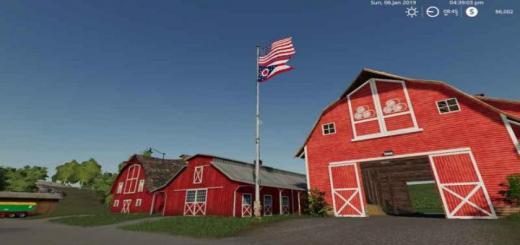 Photo of FS19 – Usa/ohio Stae Flag Beneath V1