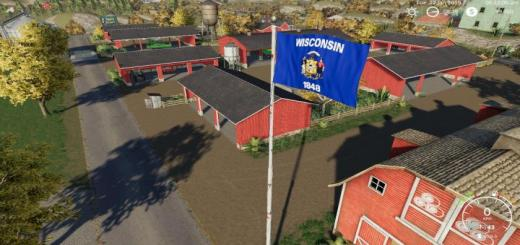 Photo of FS19 – Wisconsin Flag V1