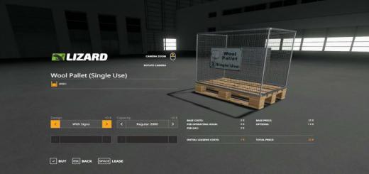 Photo of FS19 – Wool Pallet – Buyable V1