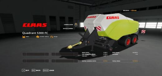 Photo of FS19 – Claas Quadrant 5300 Fc V1.1