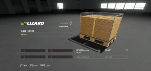 Photo of FS19 – Egg Pallet 4800 V1