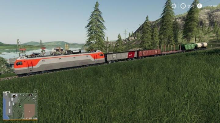 FS19 - Electric Locomotive And Railways Cars V1