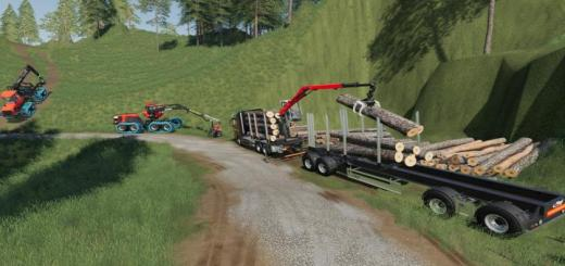 Photo of FS19 – Fliegl Log Trailer V1