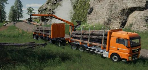 Photo of FS19 – Fliegl Timber Wood Trailer V1.0.0.1
