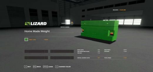 Photo of FS19 – Home Made Weight With Multicolor V1