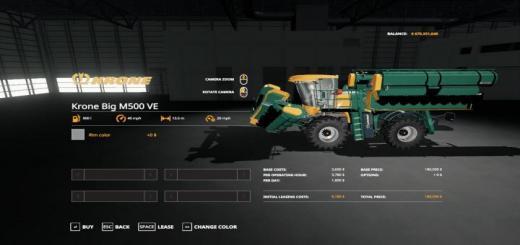 Photo of FS19 – Krone Big M500 Ve Update Fix V1