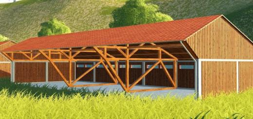 Photo of FS19 – Large Wooden Building V1