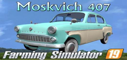 Photo of FS19 – Moskwitsch 407 V1