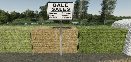 Photo of FS19 – Placeable Bale Sale Point V1