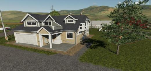 Photo of FS19 – Placeable Farm House Residential House 8 V1