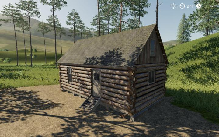 FS19 - Placeable Log Cabin With Sleep Trigger V1
