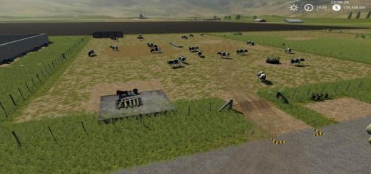 Photo of FS19 – Placeable Open Range Cow Pasture V1