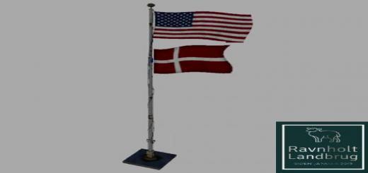 Photo of FS19 – Usa Over Denmark Flag V0.0.0.1