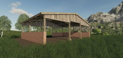 Photo of FS19 – Wood Frame Open Sheds With Brick Wall V1