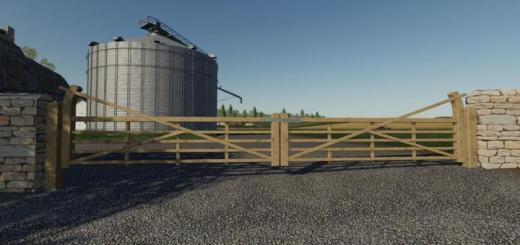 Photo of FS19 – Wooden Gates Fences And Stone Walls V1