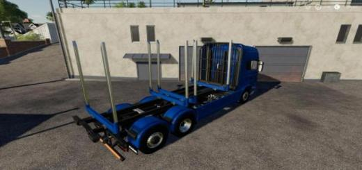Photo of FS19 – Adjustable Hooklift Wood Container V1