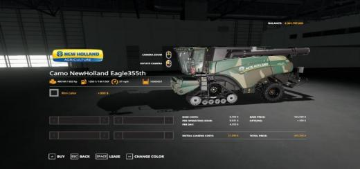 Photo of FS19 – Camo New Holland Eagle355Th Pack Ve V1