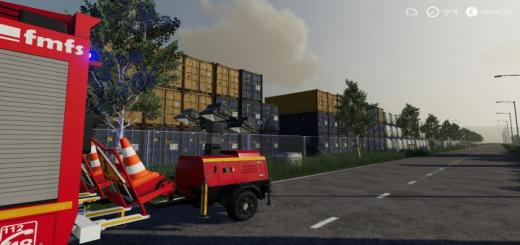 Photo of FS19 – Flood Light Trailer V1