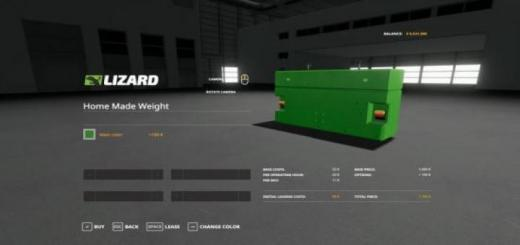 Photo of FS19 – Home Made Weight V1.19
