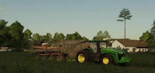 Photo of FS19 – John Deere Logging Trailer V1.19