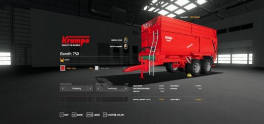 Photo of FS19 – Krampe Bandit 750 V1