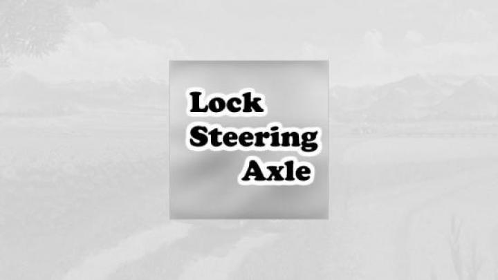 FS19 - Lock Steering Axle V1.0.1.0