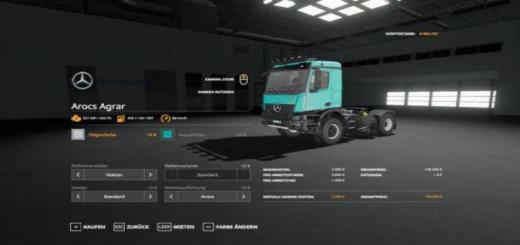 Photo of FS19 – Mercedes Arocs Agrar V3