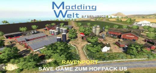 Photo of FS19 – Mw Hof Pack – Usa Edition Savegame Demo Ravenport V1