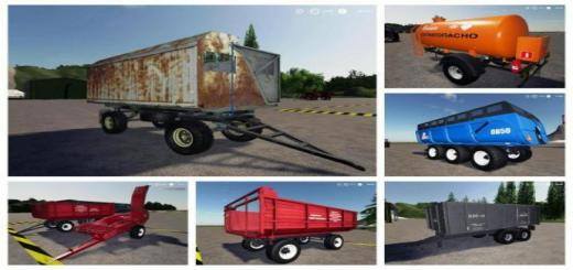 Photo of FS19 – Pack Trailers For Tractor V1